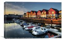 Exmouth Marina, Canvas Print