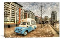 Ice Cream Van by the Docks, Canvas Print
