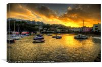 Sunset over Ilfracombe Harbour, Canvas Print