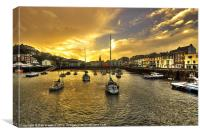 Ilfracombe Harbour at dusk, Canvas Print