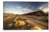 Westbound Freight, Canvas Print