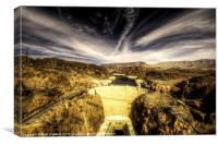 The Hoover Dam, Canvas Print