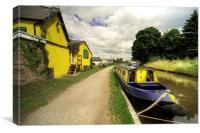 The Wharf at Gilwern, Canvas Print