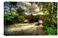 Bridge over the River Avill, Canvas Print