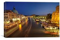 Night time on the Grand Canal, Canvas Print