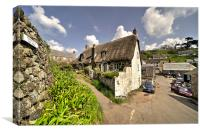 Cadgwith Thatch, Canvas Print