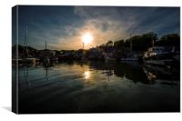 Padstow dusk, Canvas Print