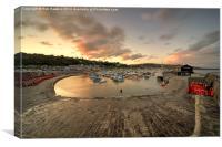 Lyme Regis Harbour , Canvas Print