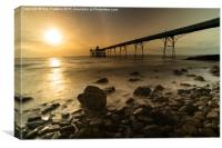 Clevedon Pier Sunset , Canvas Print