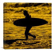 Surfer Silhouette , Canvas Print