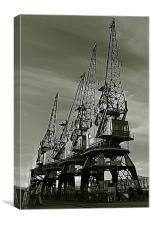 Dock Cranes, Canvas Print