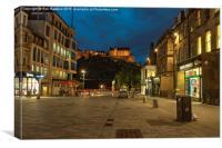 Edinburgh Castle Street , Canvas Print