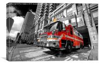Boston Fire Truck , Canvas Print