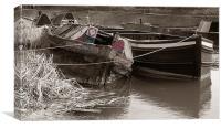 Sunken Barge, Canvas Print