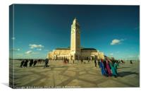 Mosque Casablanca , Canvas Print