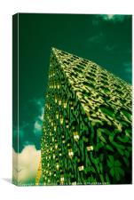 Green Scraper , Canvas Print