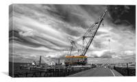 Ryde a big crane..!, Canvas Print
