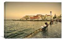 Chania Waterfront , Canvas Print
