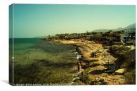 Malia beach, Canvas Print