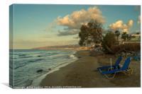 Stalida Beach Lounger , Canvas Print