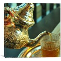 Moroccan mint tea , Canvas Print