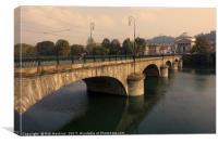 Turin Bridge across the Po , Canvas Print