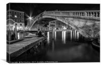 Venitian Bridge in mono , Canvas Print
