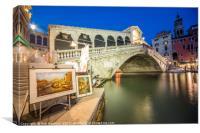 Rialto Bridge Twylight , Canvas Print