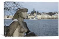 Zurich Lady , Canvas Print
