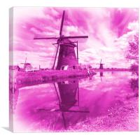 Pink Windpump , Canvas Print