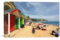 Swanage beach huts , Canvas Print