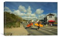 Surf crossing , Canvas Print