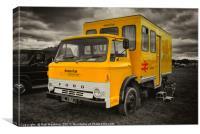 The BR crew bus , Canvas Print