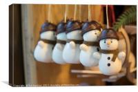 Ickle Snowmen , Canvas Print