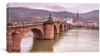 Heidelberg Bridge , Canvas Print