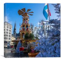 Luxembourg winter turbine , Canvas Print
