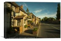 Old Crown at Kelston , Canvas Print