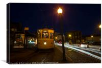 Porto Night Tram , Canvas Print