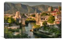 The Old Bridge of Mostar , Canvas Print
