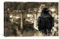 The Raven of Knaresborough Castle, Canvas Print