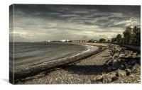 Minehead Beach, Canvas Print