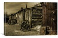 The Boiler & the sheds, Canvas Print