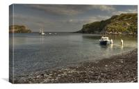 Off to fish at Lulworth Cove, Canvas Print