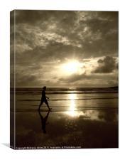 Walking, Canvas Print