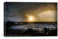 sunset on Hartland, Canvas Print