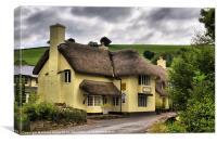 The Royal Oak Inn in Winsford, Canvas Print