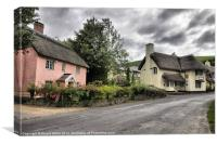 Thatch house and pub, Canvas Print