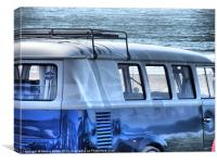 VW Camper van, Canvas Print