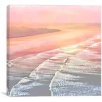 Pink Ocean, Canvas Print