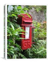 Red Letterbox, Canvas Print
